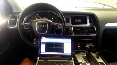 Audi Q7 Tiptronic výmena oleja v prevodovke s preplachom