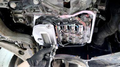 VW Passat 3C výmena oleja v automatickej prevodovke Aisin Warner 09G  s preplachom