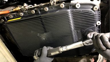 BMW E61 výmena oleja v automatickej prevodovke ZF 6HP s preplachom