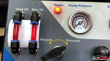 MERCEDES-BENZ GL X164 výmena oleja v automatickej prevodovke 7G-TRONIC s preplachom