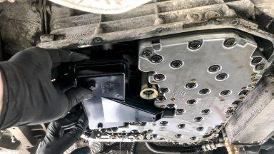 Audi A6 výmena oleja v automatickej prevodovke S-tronic s preplachom